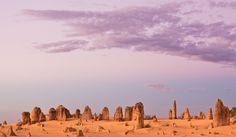 Pinnacles Dusk Afterglow by Frank Richardson, Nambung, Western Australia