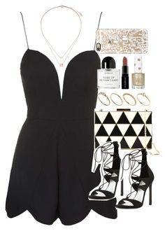 """""""Outfit for prom with a playsuit"""" by ferned on Polyvore featuring Rare London, Valentino, Stuart Weitzman, Topshop, ASOS, Byredo, Smashbox and Casetify"""