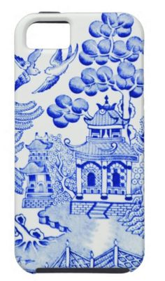 Blue and White Monday - Blue Iphone 8 Case - Ideas of Blue Iphone 8 Case. - The Pink Pagoda: Blue and White Monday Blue Willow China, Blue And White China, Blue China, Love Blue, Cheap Iphone 7 Cases, Iphone Case, Willow Pattern, Shabby, China Patterns