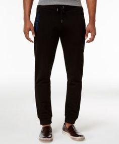 Versace Jeans Men's Embroidered Pocket Jogger Sweatpants - Black XL