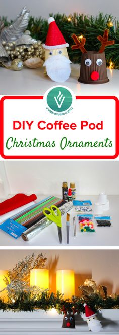 Looking for fun DIY Christmas decorations for kids? These recycled crafts from used coffee pods make the perfect starting point for DIY Christmas ornaments! These DIY Christmas crafts are super easy to make and a whole lot of fun! Visit our blog to see how we put these DIY Christmas ornaments together.