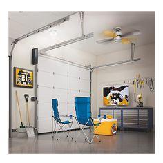 Space-Saving Wall Mount Garage Door Opener   Chamberlain Automatic Garage Door, Garage Door Lock, Chamberlain Garage Door Opener, Garage Door Opener Installation, Residential Garage Doors, Entry Gates, Home Network, Door Locks, Space Saving