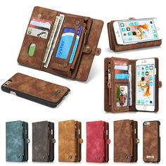 New Genuine Real Leather Wallet Case For Apple iPhone 6 6s/ Plus Luxury Multi-functional Original Magnet Cover Phone Cases Bag