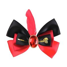 Disney Aladdin Jafar Cosplay Hair Bow Hot Topic ($6.80) ❤ liked on Polyvore featuring costumes, bow, genie costume, role play costumes, cosplay costumes, disney halloween costumes and disney