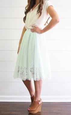 Mint Tulle Skirt