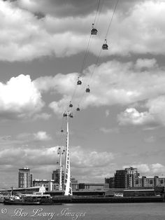 View from below the cable cars, Greenwich, London