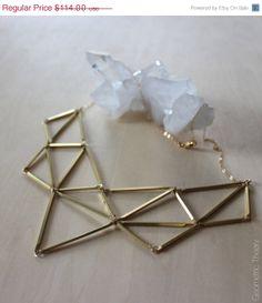 Spring Sale 5-Point Geometric Bib Statement Necklace