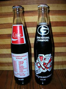 1980 National Championship Georgia Bulldogs Coca Cola - I still have one of these!