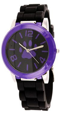Purple Paw Black & Purple Silicone Watch at The Animal Rescue Site