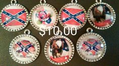 Confederate glass necklaces by Clymorehomecomfort on Etsy