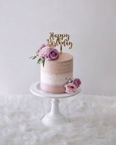 Buttercream cake with fresh flowers 30th Birthday Cake For Women, Birthday Cake For Women Elegant, Elegant Birthday Cakes, 40th Cake, Birthday Cake With Flowers, 60th Birthday Cakes, Birthday Ideas, Birthday Parties, Beautiful Cake Designs