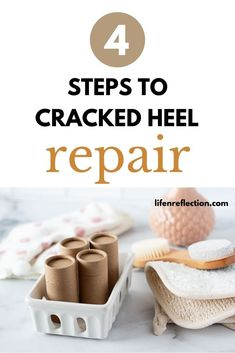 Follow these 4 Steps to Cracked Heel Repair for Overnight Relief! Spearmint Essential Oil, Essential Oils For Skin, Cracked Heel Balm, Basic Skin Care Routine, Homemade Body Butter, Diy Skin Care, The Balm, Beauty Secrets, Diy Beauty