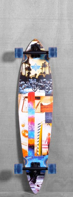 A cool longboard that I want. It's a complete longboard from thelongboardstore.com