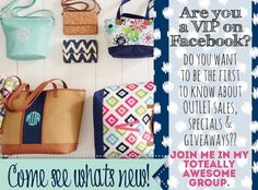 Join my FB VIP page lots of fun and you get to know when all the sales are happening!  https://www.facebook.com/groups/rhondalovesbags/