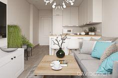 Home Decor – Home Decorating Ideas Kitchen and room Designs Small Condo Living, Condo Living Room, Tiny Living Rooms, Living Room Kitchen, Kitchen Decor, Apartment Kitchen, Apartment Interior, Apartment Design, Small Condo Decorating