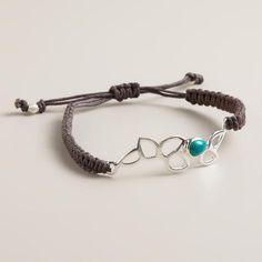 One of my favorite discoveries at WorldMarket.com: Sterling Silver Lotus Friendship Bracelet