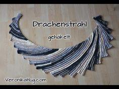 Tunesisch Häkeln - Drachenschwanz aus Arona von ONline-Garne - Veronika Hug - YouTube