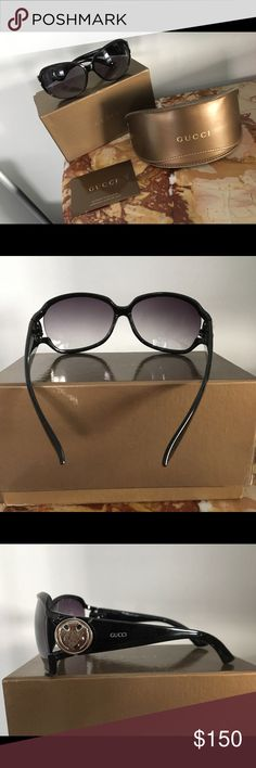 "Gucci Sunglasses Found these going through my closet. I now need prescription glasses so have to let these go. Come in original box. Card/Case/polishing cloth included. Got as a gift. I believe these to be authentic since it came in a Gucci bag (that is not included bc it was torn) Style GG3043F/S   On inside of frame 172-87  61[]14  128 Lens measure 2.5""L x 2""W Sides temples measure 5 1/4""  Super comfortable fit! Accessories Sunglasses"