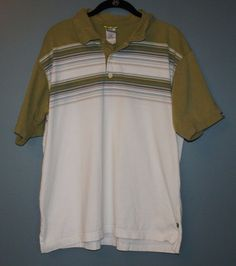 The North Face A5 Series Short Sleeve Polo Shirt Green White Mens Size L #TheNorthFace #PoloRugby