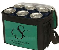 6 can cooler or lunch bag. Gearing up for spring and summer is easy with these two toned coolers!  #spring #coolers #promotionalproducts #summertime #promoitems