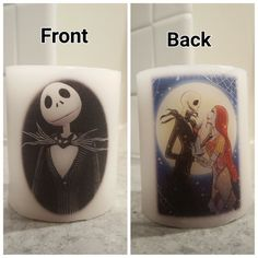 Jack Skellington// Jack and Sally Disney candle! Perfect gift!