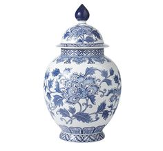 Bombay & Co, Inc. :: Accessories :: Blue & White :: Blue & White Dynasty Jar with Lid