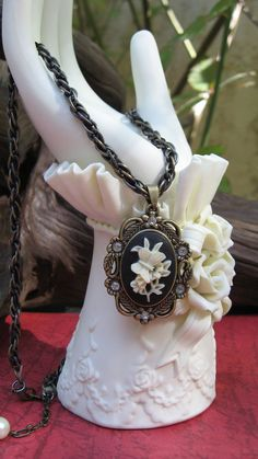 Floral Butterfly Cameo