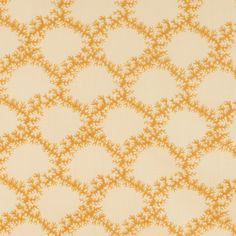 Soane Britain's Seaweed Lace fabric and wallpaper. Hand Printed Fabric, Printing On Fabric, French Pattern, Yellow Interior, Fabric Wallpaper, Pattern Books, Lace Fabric, Furniture Making, Painting On Wood