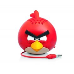 Features:  This is a fantastic new range of Angry Birds mini speakers, officially licensed by Rovio, and available from GEAR4. These handy, palm-sized speakers fit in your pocket and can accompany you wherever you go.
