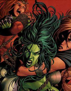 She-Hulk by Mike Deodato Jr.