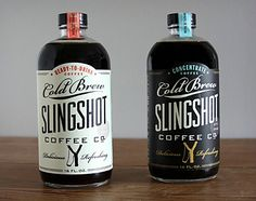 Slingshot Coffee Co. Cold Brew Coffee #packaging #design #retro