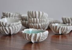 Small Scallop Bowl - Choice of Color Small Ceramic Bowl Porcelain White Ceramic Bowl