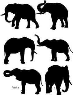 Elephant silhouettes.