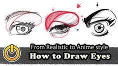 """""""How to Draw Eyes from Realistic to Anime"""" by Reinaldo Quintero a.k.a Reiq* • Blog/Website 