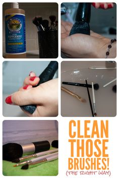 how to clean brushes Diy Beauty Makeup, Cute Makeup, Simple Makeup, Beauty Hacks, Beauty Tips, How To Wash Makeup Brushes, Makeup Guide, Makeup 101, Makeup For Beginners