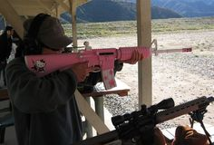 Pink AR15 looks kinda cute :)