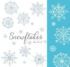 CLIP ART and Photoshop Brushes - Snowflakes - for commercial and personal use Snowflake Images, Photoshop Brushes, Photoshop Tips, Photoshop Tutorial, Cool Paper Crafts, Branding, Free Graphics, Floral Illustrations, Wall Art Designs