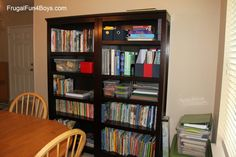Target bookcases for homeschool storage