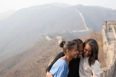 OUR FIRST LADY MICHELLE OBAMA & DAUGHTERS VISIT TO CHINA!! THE WALL