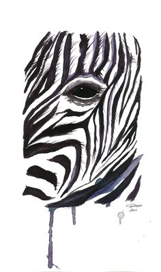 I painted this zebra last night in my teen art class I teach. by Jessica Durrant Watercolor Print, Watercolor Illustration, Watercolor Ideas, Painting Prints, Painting & Drawing, Paintings, Zebra Art, Peacock Painting, Teen Art