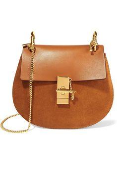 Chloé | Sac porté épaule en cuir et daim Drew Small | NET-A-PORTER.COM