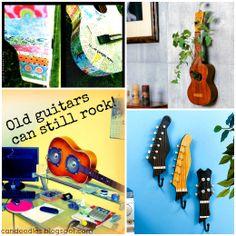 Repurpose: Old Guitars can still Rock! 10+ ideas for repurposing them.