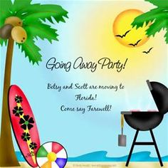 Going Away Party Invitations  Farewell Going Away Invitations