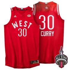 2016 Toronto NBA All-Star Western Conference Golden State Warriors Stephen  Curry Red Jersey fd1b7abff