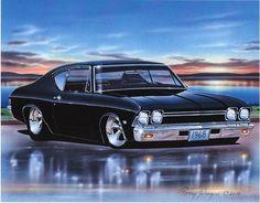 1968 Chevelle 2 Door Hardtop Classic Car Art Print 11x14 68