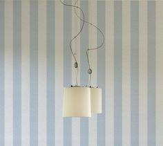 A.S. Création 919236 - Carta da parati a righe, colore: Bianco/Blu pastello