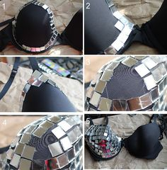 How to make a mirror bra by Célèste of Fashion is Evolution, via Flickr