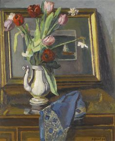 Duncan Grant (British, 1885-1978), Still Life, Tulips (Charleston), 1936. Oil on canvas
