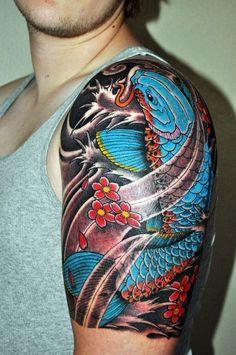 Tatuajes de carpas: colores y significado.