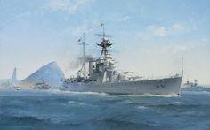 HMS Hood (51), launched 1918. Hms Hood, Prinz Eugen, Ship Art, Military Art, Royal Navy, Dieselpunk, Battleship, World War Ii, Sailing Ships